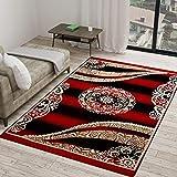 Vram 5D Designer Superfine Exclusive Velvet Carpet (Maroon, 60 x 84 Inch, 150 x 210 cm, 5 x 7 ft)
