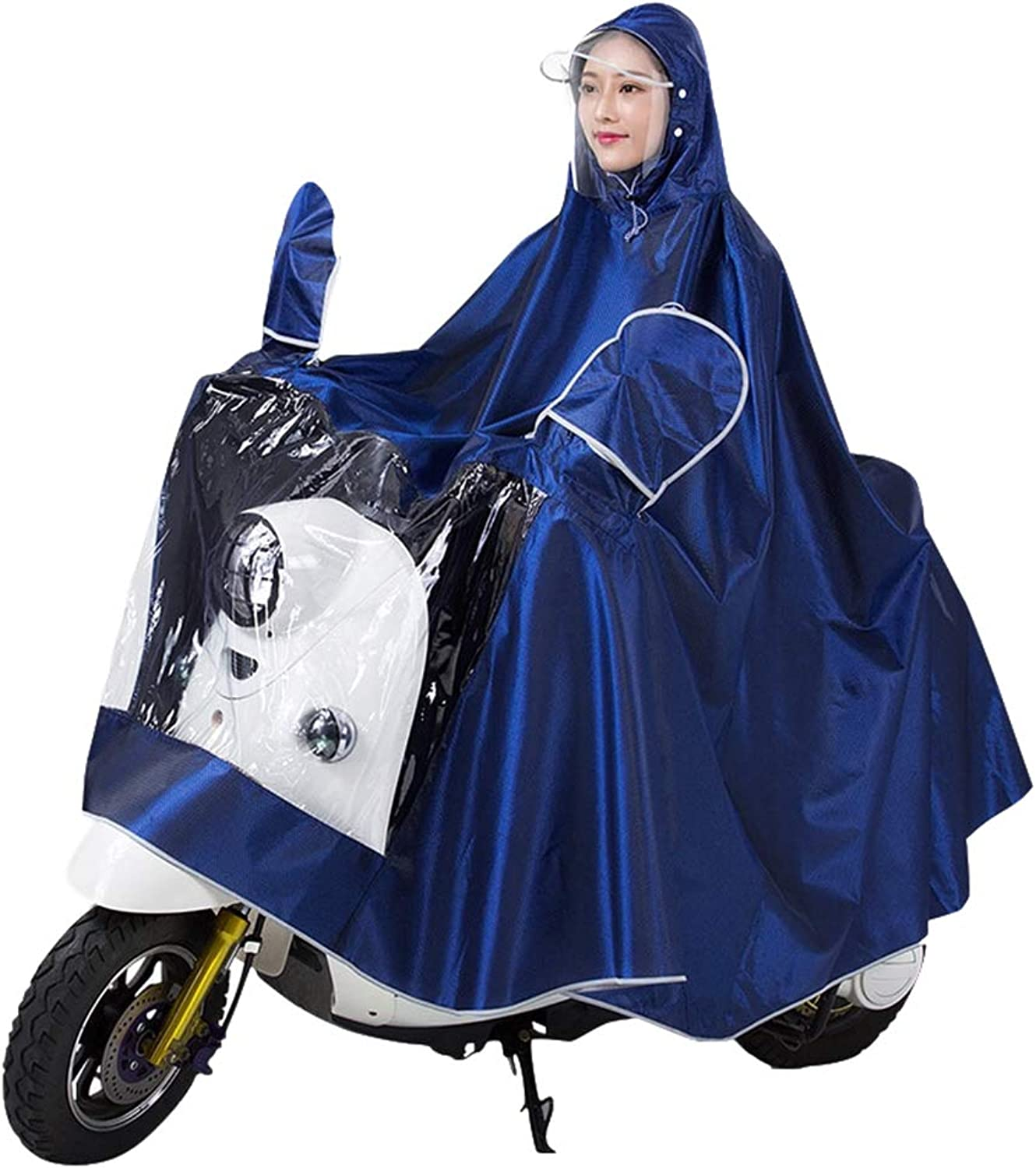 Cycling Raincoat for Adults, Reusable Poncho to Increase Men's and Women's Waterproof Jacket