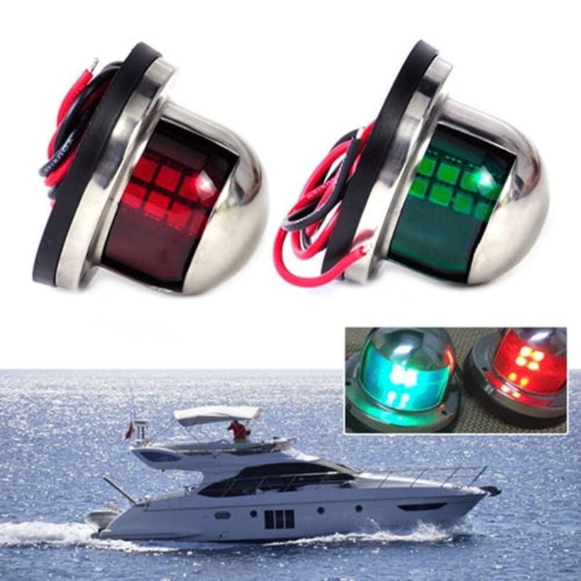 12V LED Marine Boat Yacht Light Bow Navigation Lights Sailing Signal Light Boat Yacht Marine Led Traffic Light One Pair Red & Green