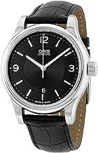 Oris Classic Black Dial Leather Strap Men's Watch 73375944034LS
