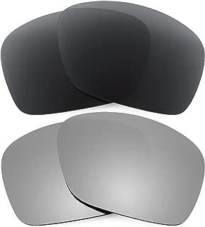 Combo de 2 pares de lentes polarizados, de reemplazo, para Oakley Plaintiff Squared K001