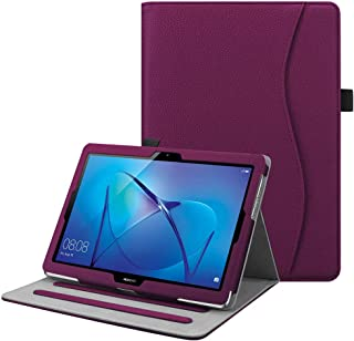 Fintie Funda para Huawei MediaPad T3 10 - [Multiángulo] Folio Carcasa con Bolsillo de Documentos Función de Soporte para Huawei Mediapad T3 10 Tablet 9.6 Pulgadas IPS HD, Púrpura