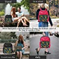 Cute Seamless Pattern with Leopards,Leather Sports Bag Exotic Leaves and Shapes Tote ?for Women 15IN