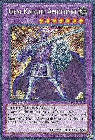 YU-GI-OH! - Gem-Knight Amethyst (HA06-EN047) - Hidden Arsenal 6: Omega Xyz - 1st Edition - Secret Rare