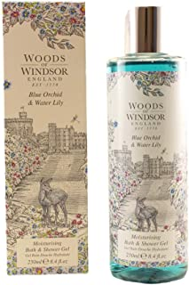 Woods Of Windsor Blue Orchid & Water Lily Moisturizing Bath & Shower Gel for Women, 8.4 Ounce