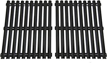 VICOOL Porcelain Steel Cooking Grates Replacement Parts for Sunbeam, Grill Master 720-0697, Nexgrill 720-0697E, Uniflame GBC091W Gas Grill Models, Grill Cooking Grid Set of 2, 17 3/16 inch, hyG981B