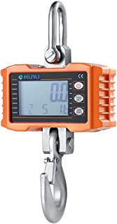 Klau 1000 kg 2000 lb Aluminum Case Digital Industrial Crane Scale Heavy Duty Hanging Scale Smart Measuring Tool Hoist orange for Home Farm Factory