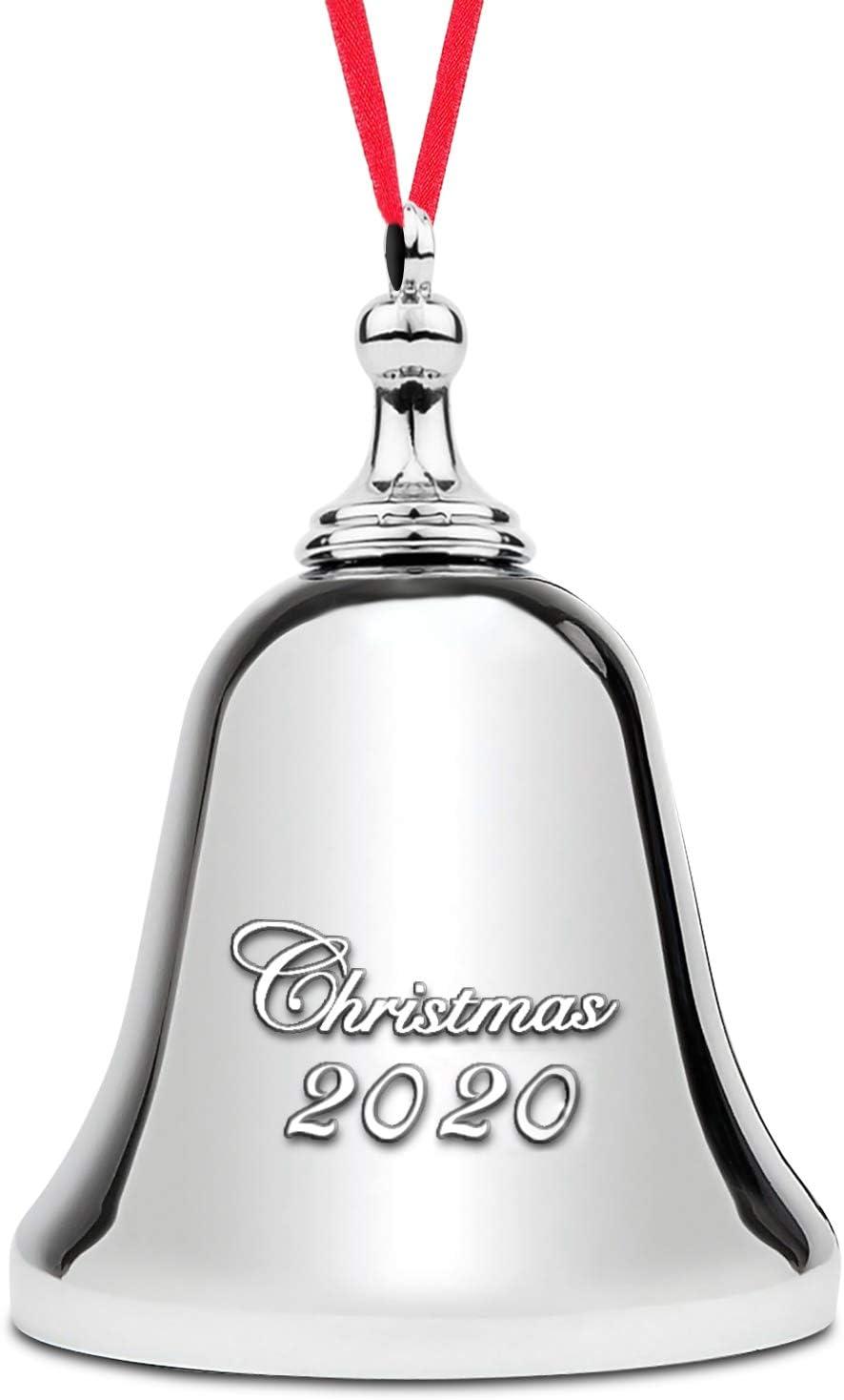 2020 Jingle Bell Ornament – Elegant Christmas Bell Ornament