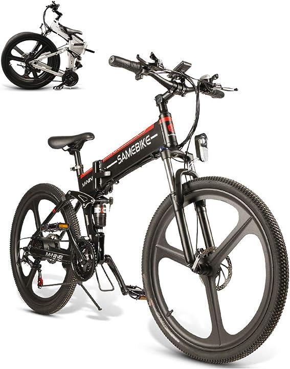 Mountain bike samebike elettrica 26 pollici pieghevole bici elettrica 350w 48v 10ah B088RHVXK6