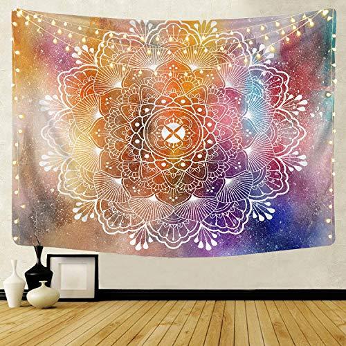 Patrón de mandala caliente tapiz indio decoración para colgar en la pared elefante bohemio fondo de playa manta de tela colgante de pared A1 180X230CM