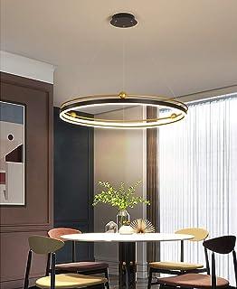 Lámpara colgante LED Lámpara colgante de mesa de comedor regulable con control remoto Lámpara de araña de restaurante creativa moderna Lámpara de isla de cocina de acrílico de metal,Altura ajustable