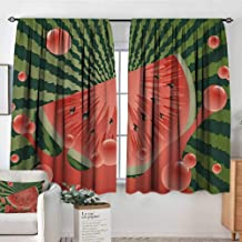 All of better Summer Window Curtain Drape Beach Fruit Vegetarian Garden Health Life Hot Season Image Door Curtain Blackout 55