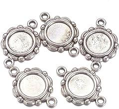 Round Cabochon Settings Argent Antique Alliage de Métal 25 mm 15 pcs conclusions Crafts