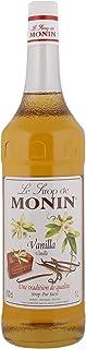 Monin Vanilla Syrup In Glass Bottle, 1 Litre