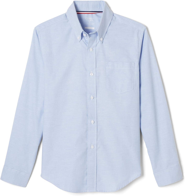 French Toast Boys' Long Sleeve Oxford Shirt (Standard & Husky): Clothing