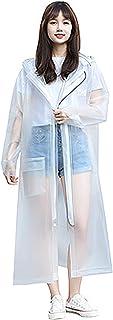 SACKDERTY Chubasquero Mujer Chaquetas de lluvia impermeables ligeras Cazadora con capucha plegable para exteriores