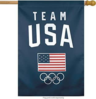 WinCraft Olympics Team USA Vertical Flag, 28x40 inches, 1 Sided