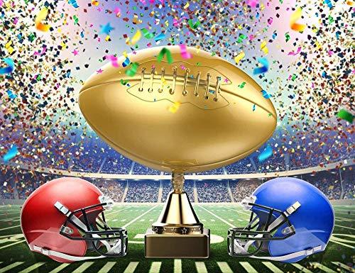 Zhy American Football Super Bowl Trophy Sportwettbewerb Fußballplatz Fotografie Hintergrund Karneval Party Banner 7X5FT Vinyl Foto Hintergrund Photoshoot Studio Requisiten
