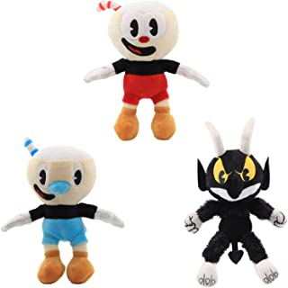 Cuphead & Mugman & The Devil Boss Plush Figure Toy Stuffed Toy Doll for Kids Children --3pc/Set