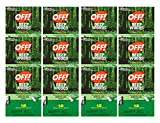 OFF! Deep Woods Insect Repellent Wipes, 12 Towelettes (Pack of 12)