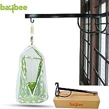 Baybee New Born Baby Cradle Cot Metal Hanger - Cradle for Baby Window Cradle Metal Hanger for Baby Size (76 x 26 x 8 cm Black)