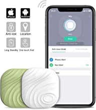 Nut3 Smart Key Finder Bluetooth WiFi Tracker GPS Locator Wallet Phone Key Anti-Lost Bidirectional Alarm Reminder (2 packes, White+Green)