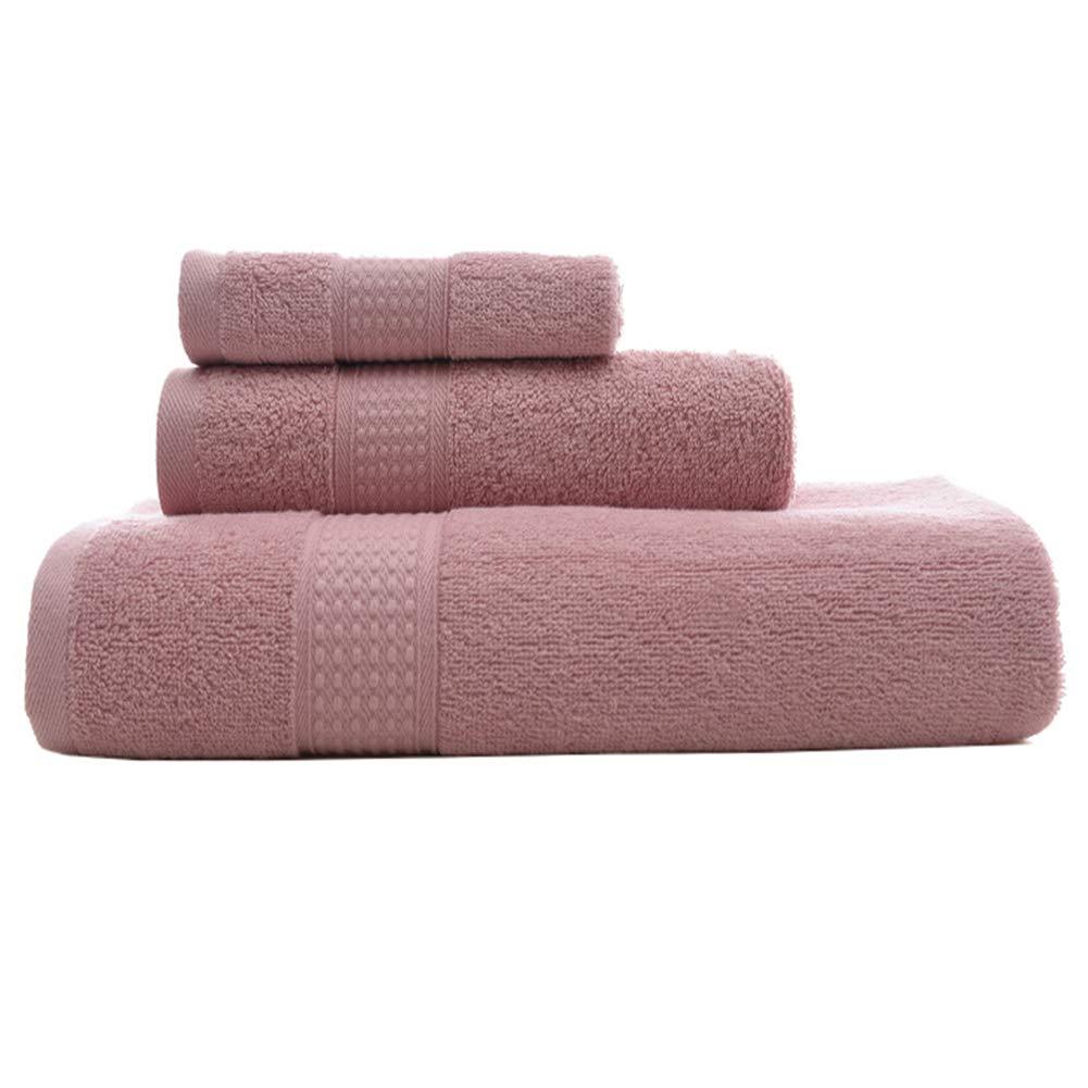 引退するジョグ軽蔑3ピース高級バスタオルセット、プレミアムコレクション浴室タオルコットンラグジュアリーホテルアンドスパタオルセット - 高吸収性とエコフレンドリー,ピンク