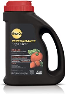 Miracle-Gro Performance Organics Edibles Plant Nutrition Granules - Plant Food with Natural & Organic Ingredients, for Tomatoes, Vegetables, Herbs and Fruits, 2.5 lbs.