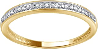 0.05 Carat Round Diamond Wedding Band & Stackable Set in 10K Gold