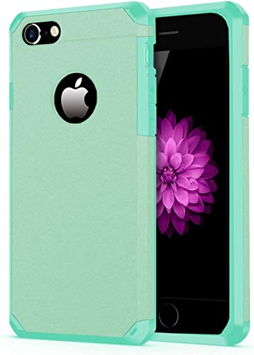 iPhone 7/8 Case, ImpactStrong Heavy Duty Dual Layer Protection Cover Heavy Duty Case for Apple iPhone 7/8 (Teal)