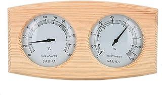TIREOW Sauna Thermomètre et Hygromètre -Hygrothermographe à bois 2 en 1 Accessoires de salle de sauna