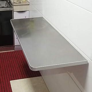 Table Rabattable Murale, Acier Inoxydable Bureau De Salle À Manger Flottant À Abattant Pour La Cuisine, Étude, Bar, Chambr...