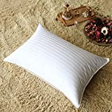 LUOSIFEN Luxury Down Bed Pillows for Sleeping,-100% Cotton Fabric, Queen Size