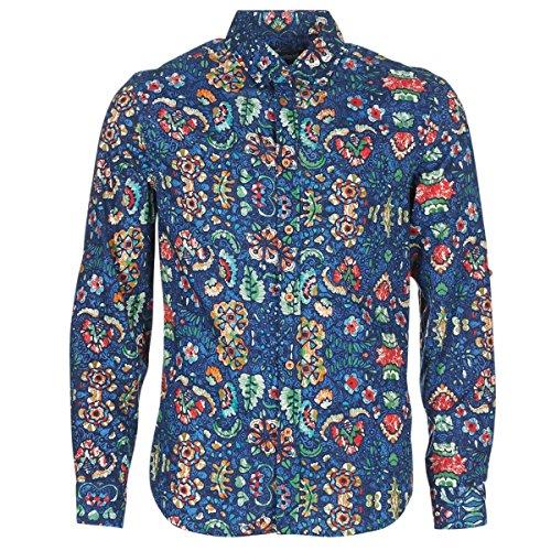Desigual Mens FOUDEL Blau Langärmelige Hemden S