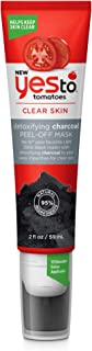 Yes To Tomatoes Detoxifying Charcoal Peel Off Face Mask Easy Built in Facial Mask Applicator Helps Keep Skin Clear 2 ounce