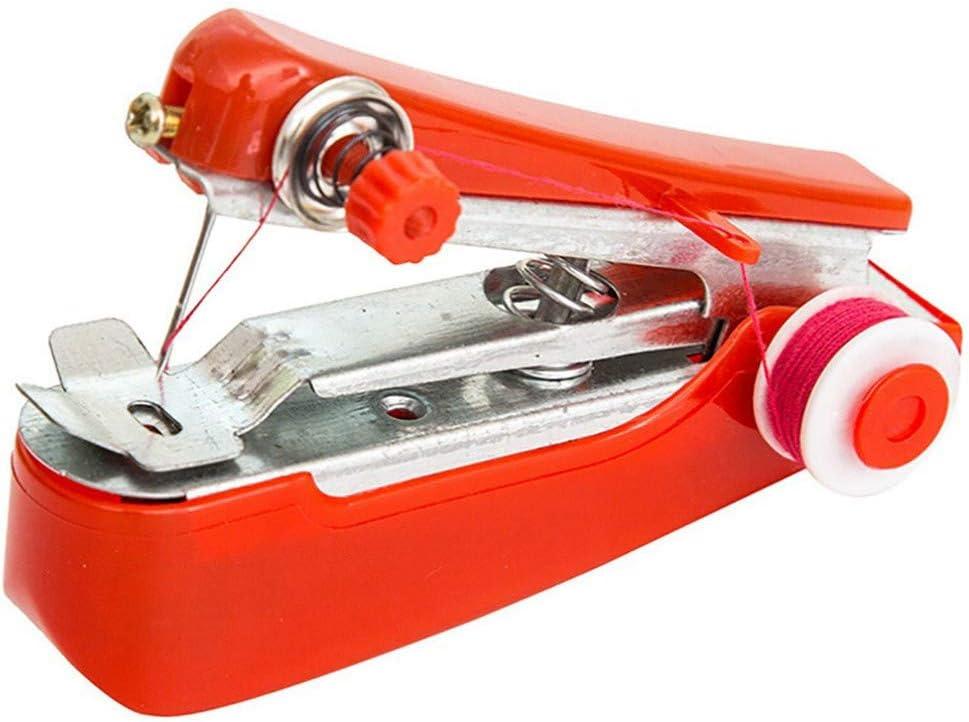 Hot Fashion Portable Needlework Cordless Mini Hand-Held Sewing Machine W//Line