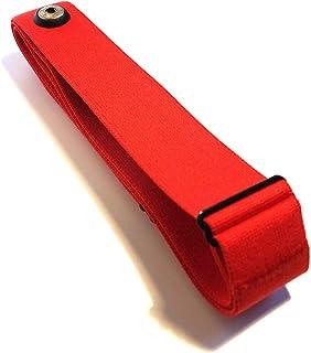 Soft strap – Cinturón de recambio Rojo – Red para Garmin Modelos Premium de frecuencia cardíaca correa de pecho, HRM-Run Adecuado, M de XXL