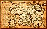 Elder Scrolls Map of Tamriel Poster Frameless Gift 12'x 18' (30cm x 46cm)-LT-047