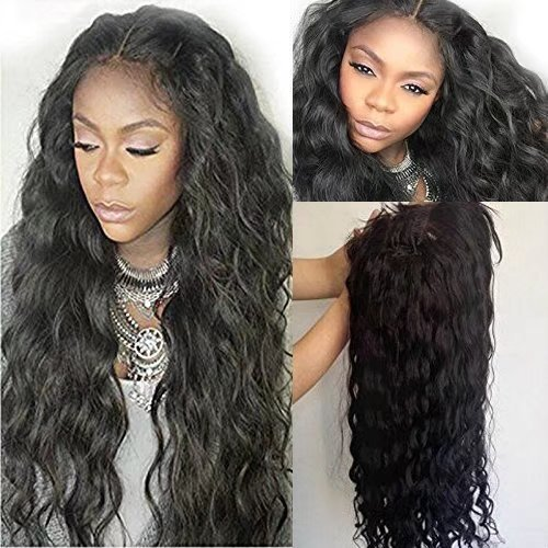 Unprocessed Brazilian Perruque Cheveux Humain Full Lace Wigs Loose Body Wave Sans Colle 150% Density Lace Wigs with Baby Hair (10 inch,1B)