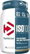 Dymatize ISO 100 Cookies&Cream 900g - Hidrolizado de Proteína de Suero Whey + Aislado en Polvo