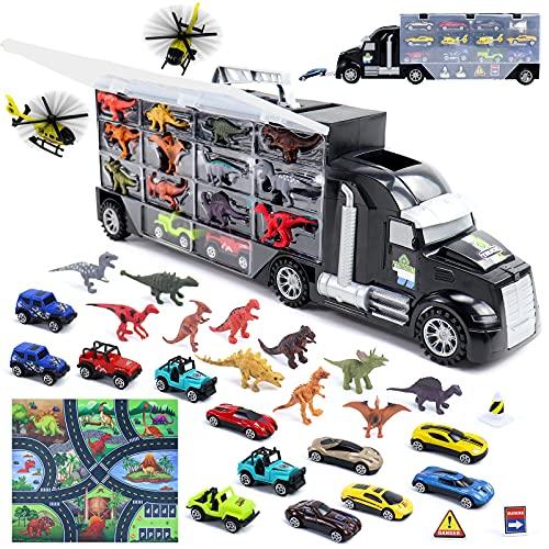 Dinosaurios Juguetes Camion Transportador con 12 Dinosaurio Juguetes Grandes 12 Coches de...
