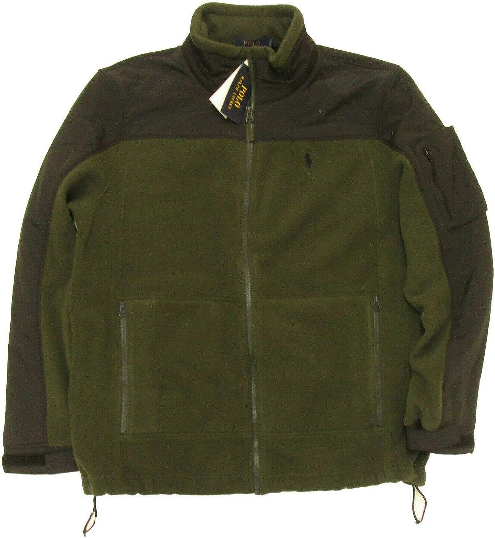 Polo Ralph Lauren Men's Color Block Full Zip Fleece Jacket