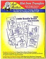 Aunt Martha's Hot Iron Transfers #3829 Cute Koala Bear Tea Towels Transfers by Aunt Martha's