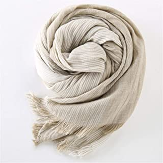 75 * 205cm 2019 Wholesale Brand Winter Scarf Men Warm Soft Tassel Bufandas Gray Plaid Woven Wrinkled Cotton Men Scarves