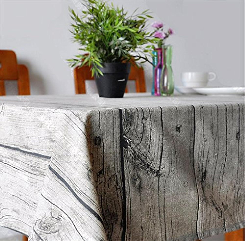 BlauLSS National Wind Wood Design House Restaurant Baumwolle Bettwäsche Tischdecke Art Home Dekor Holz Tischdecke 140  220 cm B078MFBTNL Am praktischsten  | Elegante Und Stabile Verpackung