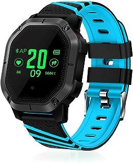 HBBOOI Reloj Elegante Impermeable IP68 Múltiple Deportes Modos de Ciclismo Monitor de Ritmo cardíaco de oxígeno Arterial de la presión Arterial del Reloj