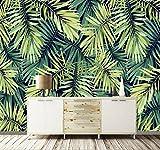 Yosot 3D Papier Peint Personnalisé Européen Rétro Forêt Tropicale Feuille De Banane Mur Personnalisé Grande Murale Papier Peint-140cmx100cm