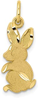 10K Yellow Gold Baby Bunny Charm