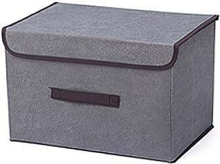 収納ボックス折りたたみ大容量収納綿とリネン服収納アクセサリー収納リビングルーム寝室適切 (グレー)