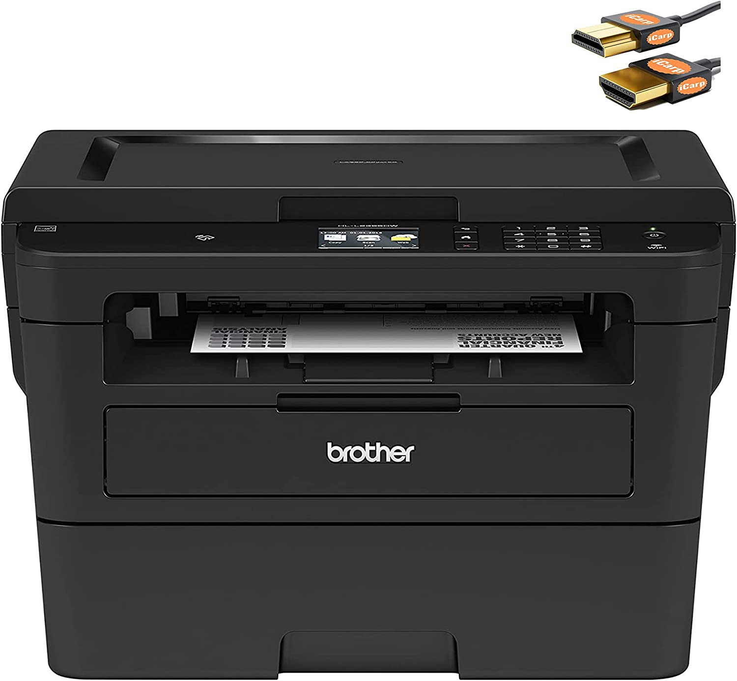 Brother HL-L Series Compact Wireless Monochrome Laser All-in-One Printer - Print Scan Copy - Auto Duplex Printing - Mobile Printing - 2.7
